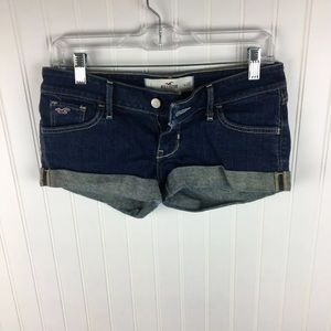 Hollister Shortie Shorts Size 1 Waist 25 Dark Wash